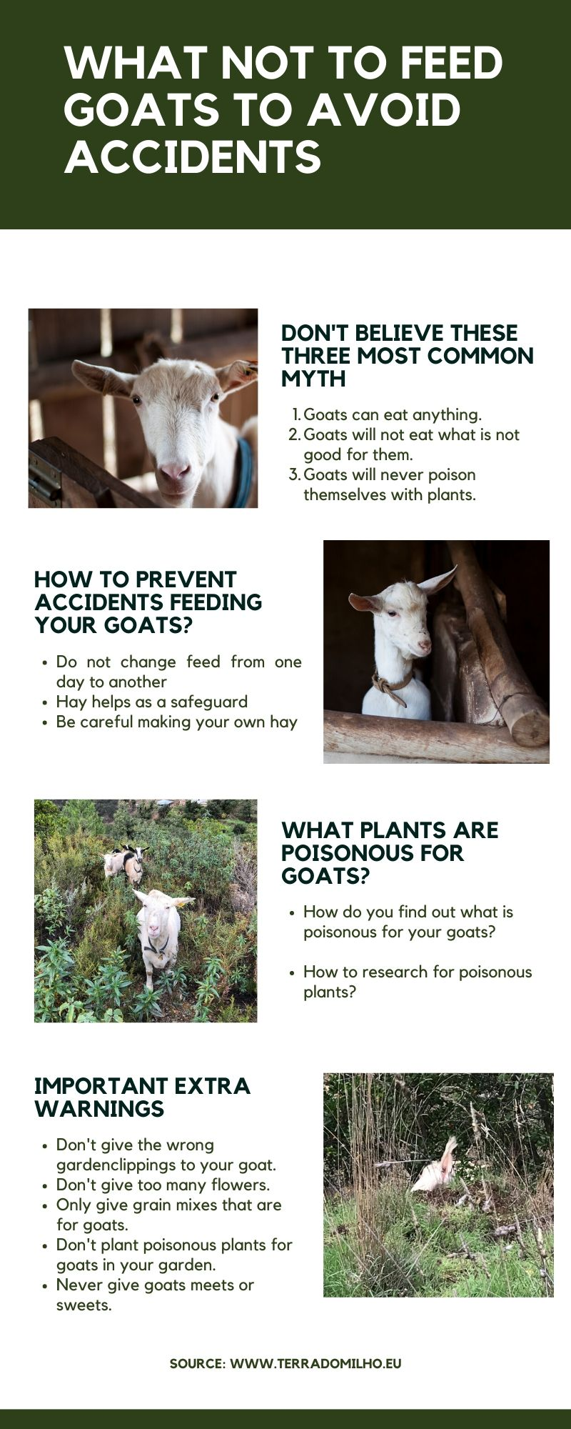 What goats do not eat
